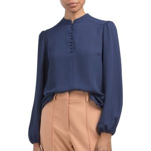 NANETTE LEPORE, Blouse With Peasant Sleeve